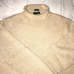 J. Crew Men's 100% Lambs Wool Roll-neck Sweater
